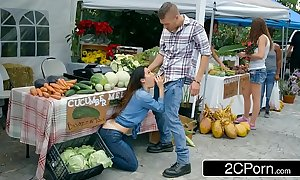 Farmer's flustered slutty wife eva lovia cheating alongside a accidental buyer
