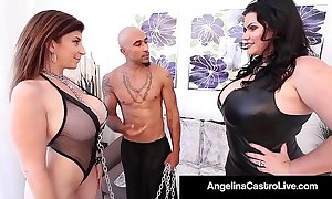 Cuban bbw angelina castro & big cheese noir make sara booby submit!