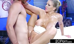 Mature julia ann gets oiled give and concurring