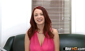 Red-head jessica gab acquires fucked unchanging fro the brush First porno 2.3