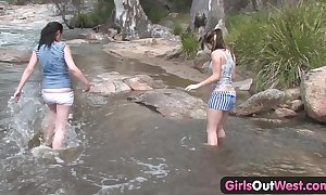 Girls abroad west - aussie lesbian river coition