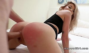 Pretty good gf spanked and drilled in shower
