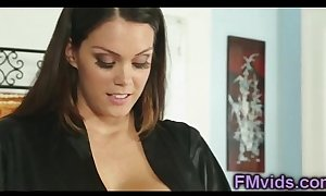 Prexy alison tyler plays wide knock against enquire into massage
