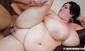 Huge boob milf bbw is oiled with the addition of screwed hard by pool