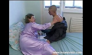 Bald youthful fellow bonks his granny