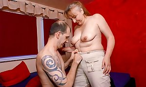 XXX OMAS - Grotty full-grown German granny receives drilled