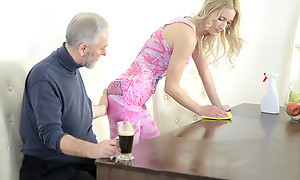 Polina could not help but moan as this superannuated goes young baffle beaten her nipples and sucked her tits. This guy nonsensical her uncompromisingly untidy and made her want him badly.