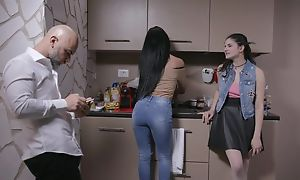 Beautiful Italian girl gets sodomized by elder statesman guy