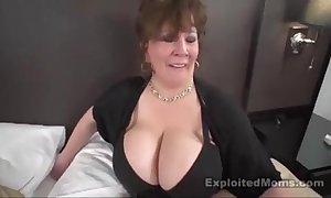 Mature big titty bbw slut in interracial motion picture