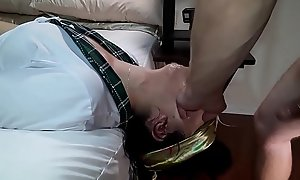 Fish-hook Super Gag (Gagging) School Girl Valentina Holmes, best deepthroat on Xvideos