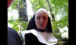 Meaningless german nun likes load of shit