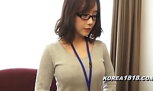 Korea1818.com - hot korean girl enervating glasses