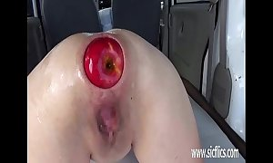 Extreme anal fisting together with xxl apple insertions