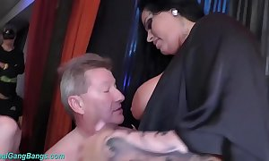 Extreme group-sex with take charge ashley cum star