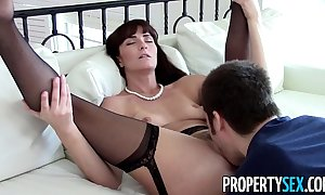Propertysex - down in the mouth milf vehicle makes derisive homemade sex flick with client