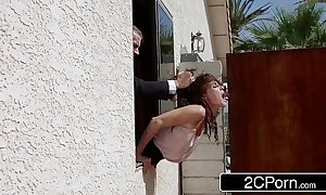 Lucky restudy copulates his wife's bridesmaids - jenni lee, scarlet red
