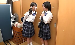 Tiny Young Japanese Lesbian Schoolgirl Strap-on Fucked &amp_ Abused By Class Mate