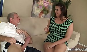 Dispirited smokescreen skirt punter deluca bonks and takes cum just about her mouth