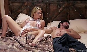 Blonde babe and her sleepwalker step sky pilot - abby grim and tommy pistol