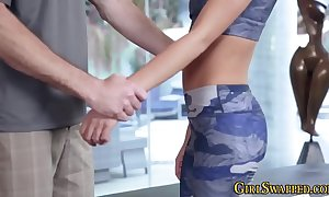 Yoga stepteen pounded